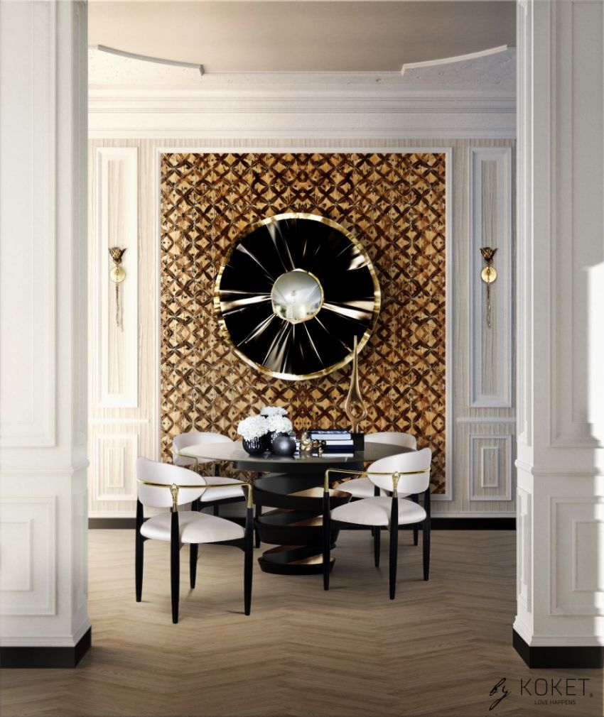 modern dining tables Modern Dining Tables For An Imposing Dining Room KOKET Fabulous dining room with the Intuition