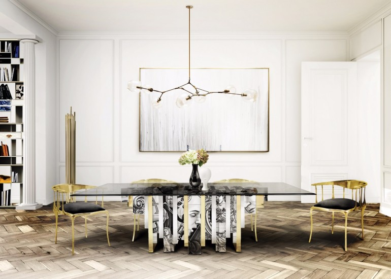 7 Modern Dining Tables By Boca do Lobo's Limited Edition Collection | www.bocadolobo.com #diningtables #tables #diningroom #thediningroom #diningarea #diningareadesign #roomdesign #productdesign #creativedesign #luxury #luxurious #luxurydiningtables #luxurybrands #famousbrands #limitededition @moderndiningtables