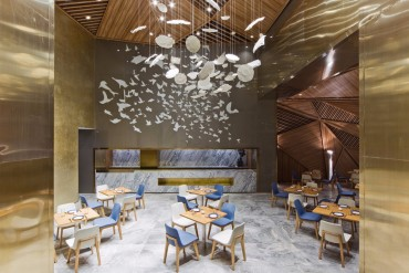 A Beautiful Luxury Restaurant Designed By Panorama   www.bocadolobo.com #moderndiningtables #diningtables #diningroom #diningarea #roomdesign #diningareadesign #restaurants #restaurant #luxuryrestaurant #luxurydining @moderndiningtables