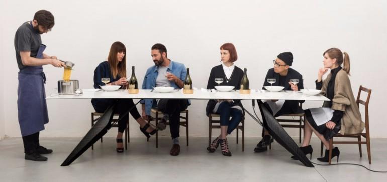 A Smart Modern Dining Table Cooks Food and Chills Drinks | www.bocadolobo.com #moderndiningtables #diningtables #exclusivedesign #productdesign #productdesigner #luxuryfurniture #diningroom #thediningroom #diningarea @moderndiningtables