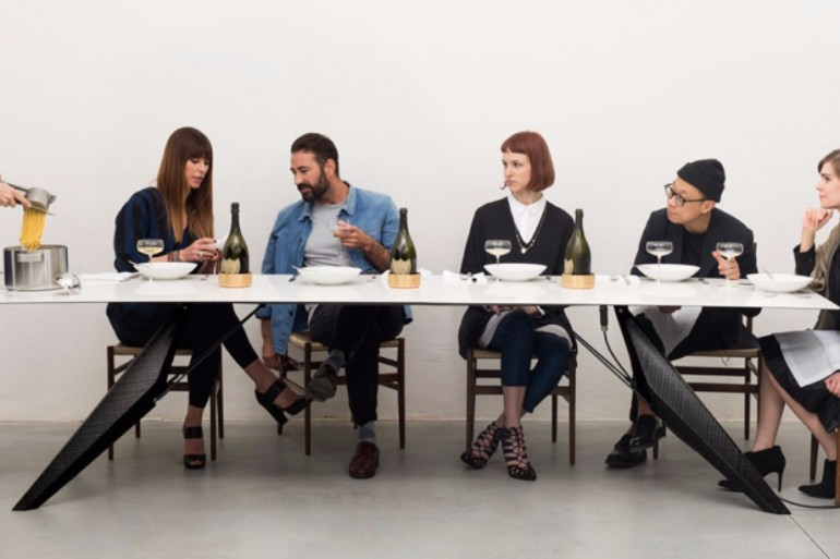 A Smart Modern Dining Table Cooks Food and Chills Drinks   www.bocadolobo.com #moderndiningtables #diningtables #exclusivedesign #productdesign #productdesigner #luxuryfurniture #diningroom #thediningroom #diningarea @moderndiningtables