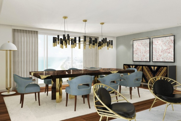 Top 2018 Modern Dining Tables Trends on Pinterest | www.bocadolobo.com #moderndiningtables #diningtables #diningroom #thediningroom #diningarea #trends #designtrends #trends2018 #pinterest #pinteresttrends @moderndiningtables