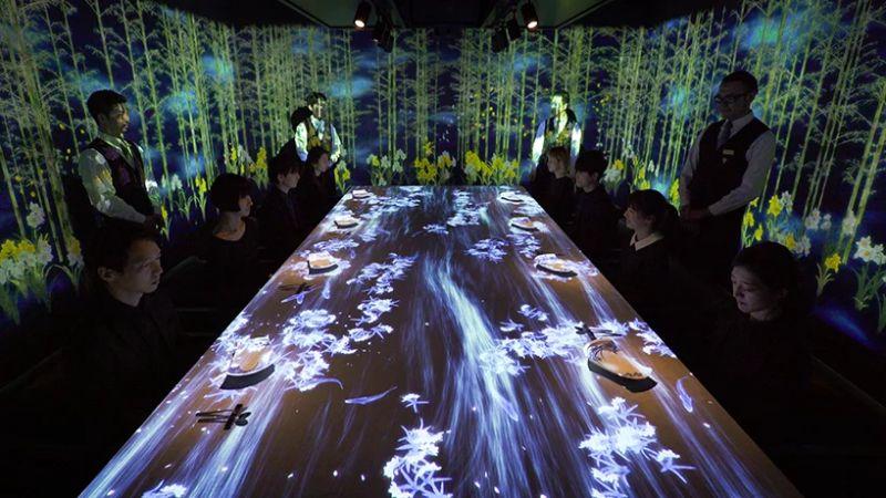 Welcome to Sagaya - An Interactive Restaurant In Tokyo by TeamLab