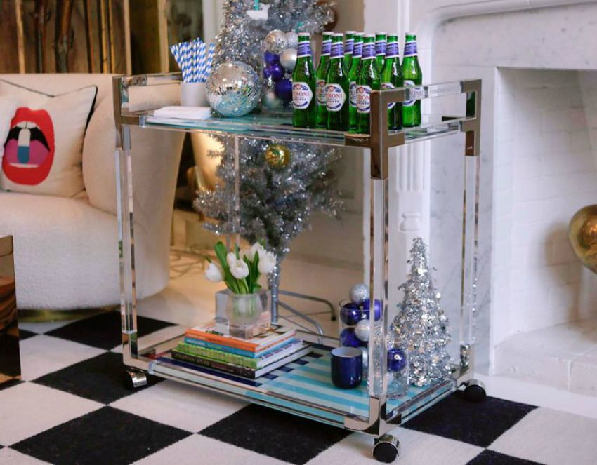 Jonathan Adler And Peroni Designed A Limited Edition Luxury Bar Cart