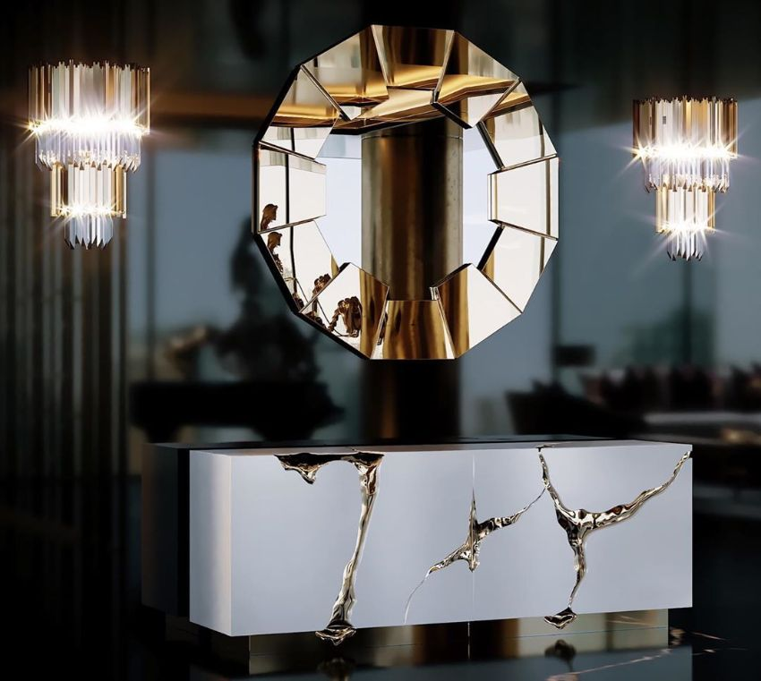 Incredible Brass Details On The Most Luxurious Modern Cabinets  Imposing Furniture: Brass Modern Cabinets For A Luxury Design Lapiaz Cabinet and Sideboard Craftsmanship Meets Modern Design 10