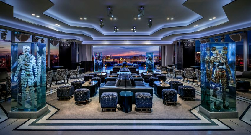 APEX Rooftop Bar - Luxury Interior Design by Studio Munge studio munge A Rooftop Wonder by Studio Munge That Overlooks Las Vegas APEX Rooftop Bar Luxury Interior Design by Studio Munge 2