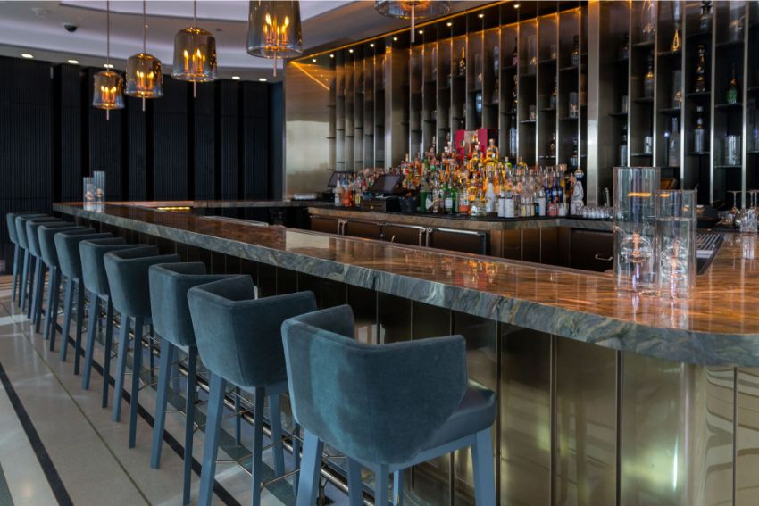 APEX Rooftop Bar - Luxury Interior Design by Studio Munge studio munge A Rooftop Wonder by Studio Munge That Overlooks Las Vegas APEX Rooftop Bar Luxury Interior Design by Studio Munge 5