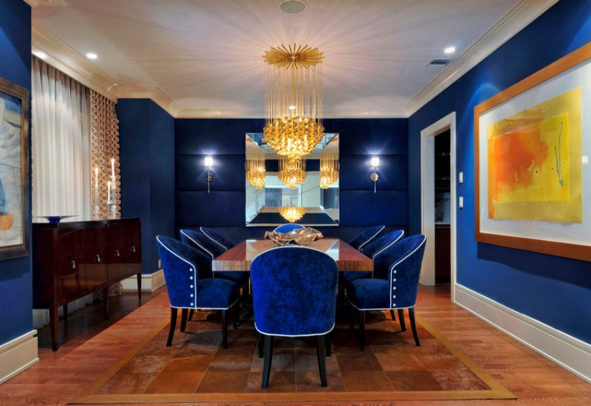 Pantone Color Of The Year 2020 - Dining Room Ideas In Classic Blue