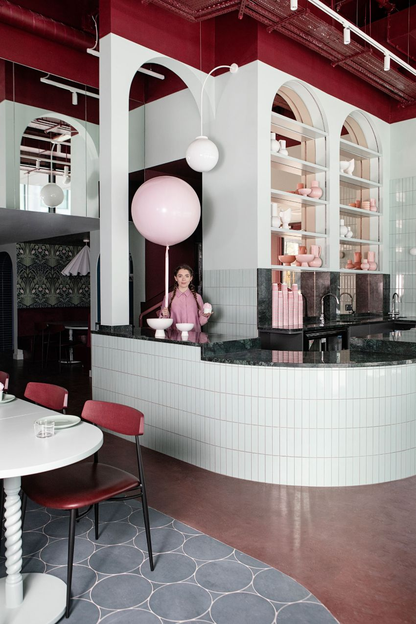 Cinnamon - A Pastel Paradise Restaurant Designed by Kingston Lafferty Design restaurant design Kingston Lafferty's New Restaurant Design Stands As A Playful Celebration Of Color Cinnamon A Pastel Paradise Restaurant Designed Kingston Lafferty Design 10