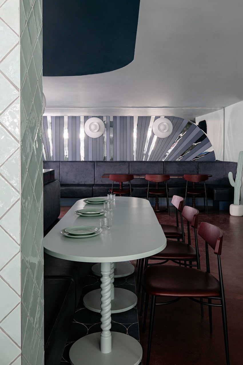 Cinnamon - A Pastel Paradise Restaurant Designed by Kingston Lafferty Design restaurant design Kingston Lafferty's New Restaurant Design Stands As A Playful Celebration Of Color Cinnamon A Pastel Paradise Restaurant Designed Kingston Lafferty Design 12