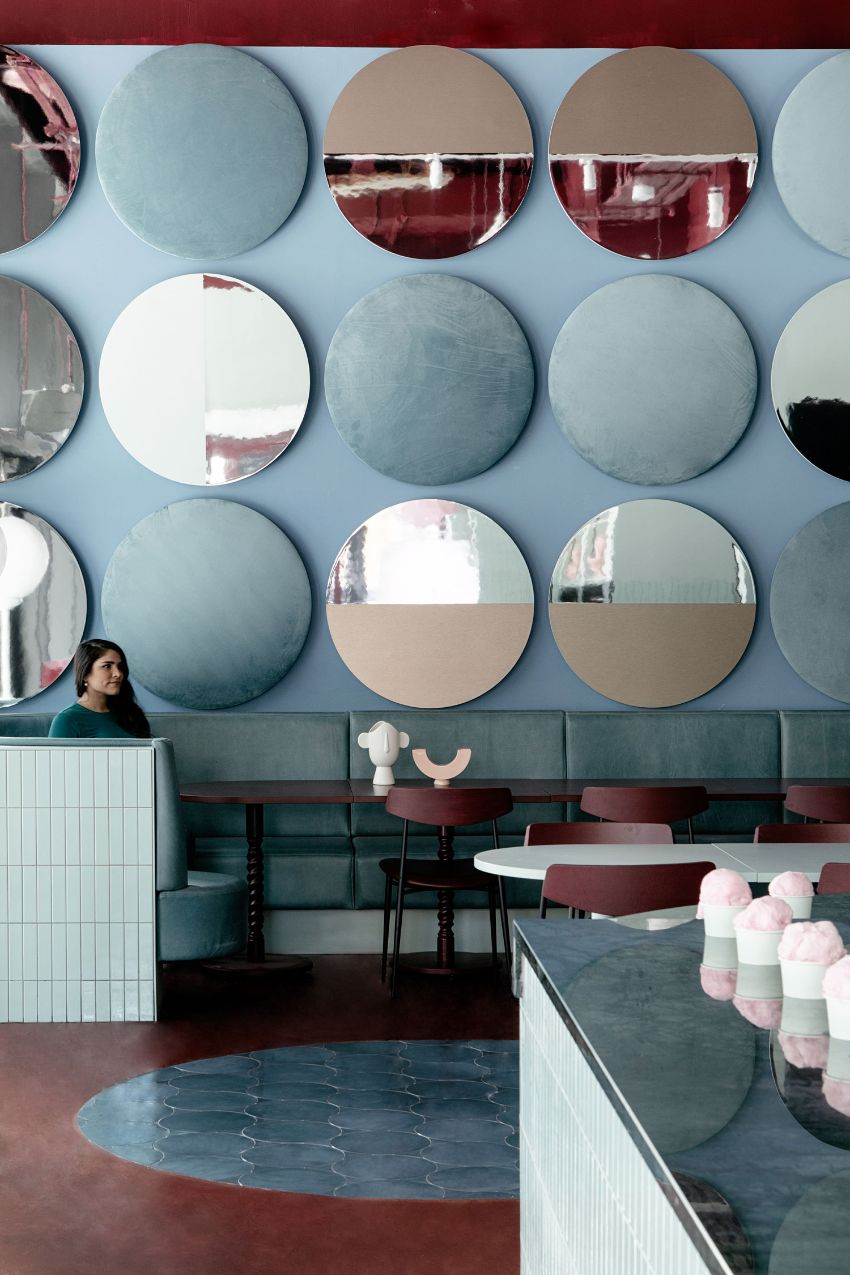 Cinnamon - A Pastel Paradise Restaurant Designed by Kingston Lafferty Design restaurant design Kingston Lafferty's New Restaurant Design Stands As A Playful Celebration Of Color Cinnamon A Pastel Paradise Restaurant Designed Kingston Lafferty Design 2