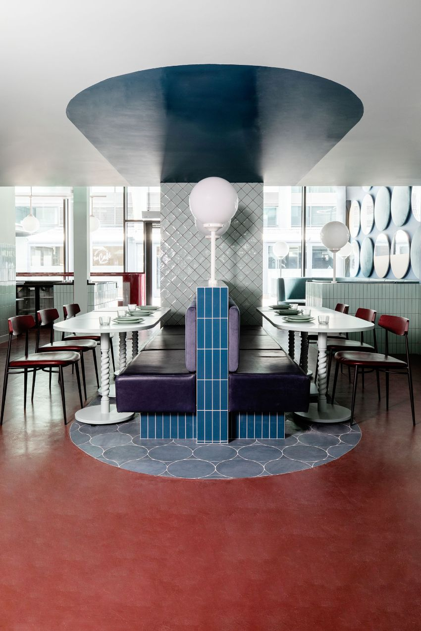 Cinnamon - A Pastel Paradise Restaurant Designed by Kingston Lafferty Design restaurant design Kingston Lafferty's New Restaurant Design Stands As A Playful Celebration Of Color Cinnamon A Pastel Paradise Restaurant Designed Kingston Lafferty Design 9