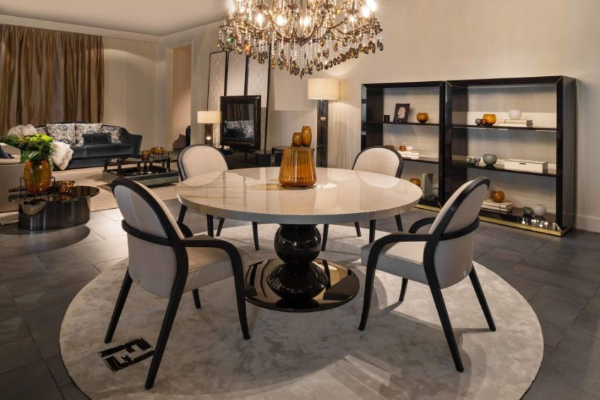 Classic, Yet Luxury White Dining Tables For An Imposing Dining Room