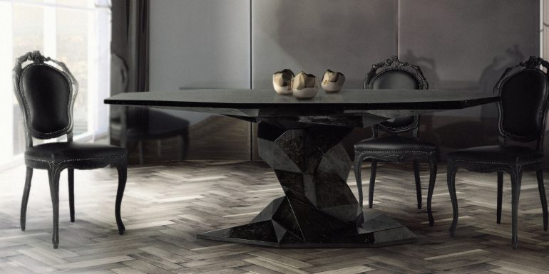 Achieve A Glamorous Aesthetic With These Black Dining Tables