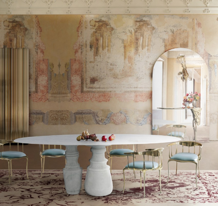 Marble Dining Table Inspirations: 20 Finest Luxury Interior Designs