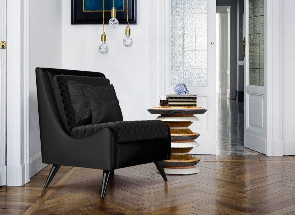 20 Black Luxury Chairs For a Dark Mood