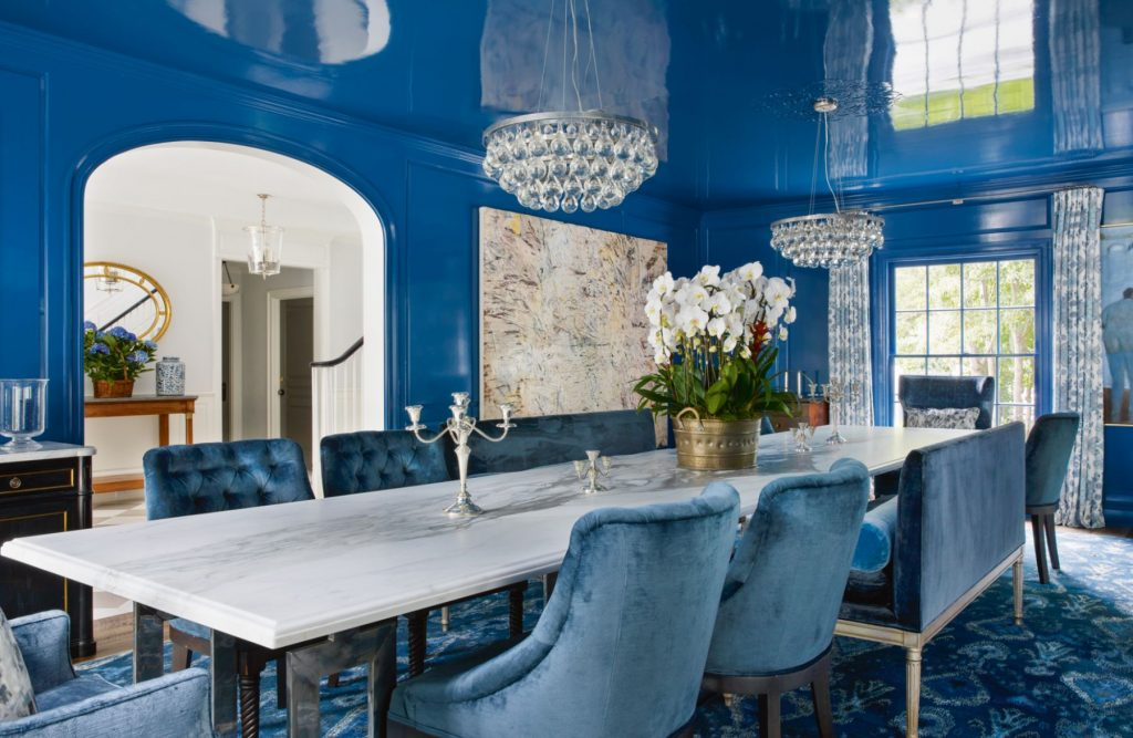 Evens Architects: A Home in Los Angeles With a Stunning Blue Dining Room