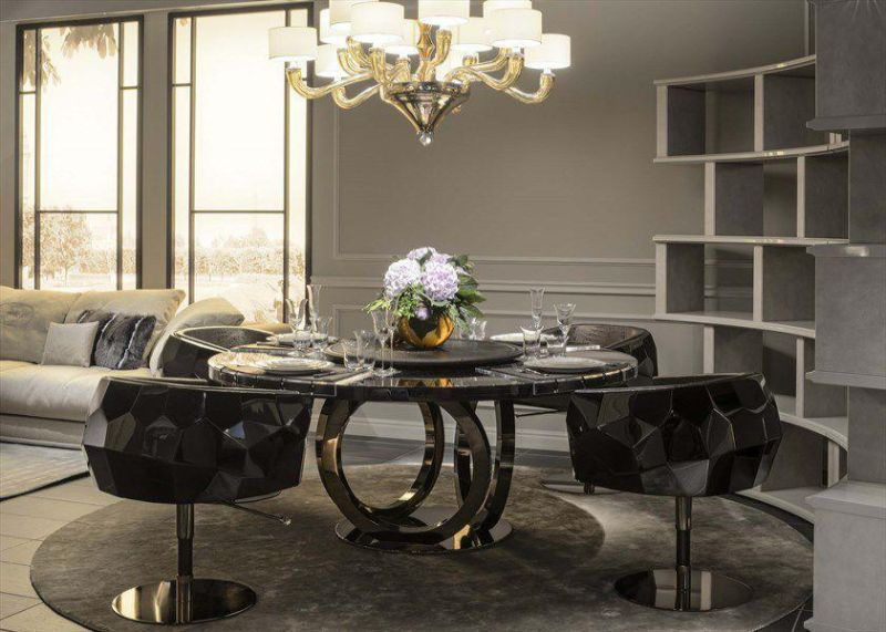 Luxury Marble Dining Tables For An Imposing Dining Room Design